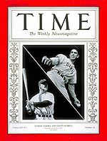 Baseball Photos - Carl Hubbell - Hubbell and Lou Gehrig on the cover of <i>Time</i> magazine