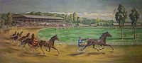 Horse Racing Photos - Historic Track - Mural of track in U.S. Post Office (Goshen