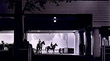 Horse Racing Photos - Saratoga Race Course - Dawn on the Main Track in 1963