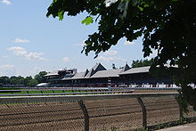 Horse Racing Photos - Saratoga Race Course - Race course from Union Avenue