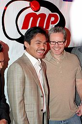 Boxing Photos - Manny Pacquiao - Pacquiao with his trainer Freddie Roach at Pacquiao's Christmas and birthday bash