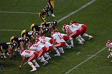 Football Photos - Damon Huard - Huard lines up with the Chiefs' offense against the Steelers (2006).
