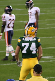 Football Photos - Aaron Kampman - Kampman against the Chicago Bears