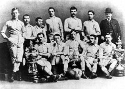 Soccer Photos - Blackburn Rovers F.C. - Blackburn Rovers cup winners in 1883