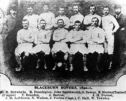 Soccer Photos - Blackburn Rovers F.C. - F.A. Cup winning side of the 1890