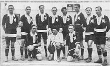 Soccer Photos - A.S. Casale Calcio - The victorious Nerostellati of 1914: Gallina (goalkeeper
