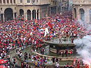 Soccer Photos - Genoa C.F.C. - Genoa fans in 2007