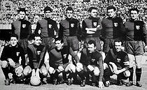 Soccer Photos - Genoa C.F.C. - Genoa side during 1956
