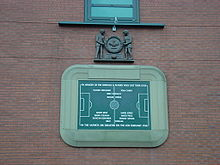 Soccer Photos - Manchester United F.C. - A plaque at Old Trafford in honour of the players who died in the Munich air disaster