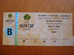 Soccer Photos - Parma F.C. - A ticket to the 1999 UEFA Cup Final against Marseille
