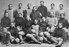College Football Photos - L. Jay Caldwell - Colgate 1895 college football team