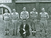 College Football Photos - Edwin Sweetland - 1911-12 UK Wildcat Basketball Team coached by E. R. Sweetland (not pictured)