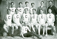 College Football Photos - Edwin Sweetland - 1899 Cornell Varsity Rowing Team: E. R. Sweetland is third from the left in the middle row