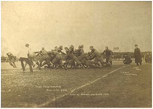 College Football Photos - Fielding H. Yost - Yost (on the sideline at right) coaching Michigan against Minnesota in 1902