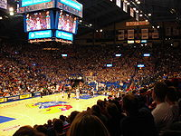 Basketball Photos - James Naismith - Basketball games at Allen Fieldhouse take place on the <i>James Naismith Court</i>.