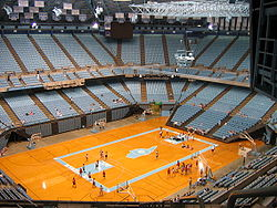 Basketball Photos - Dean Smith - The interior of the Dean Smith Center