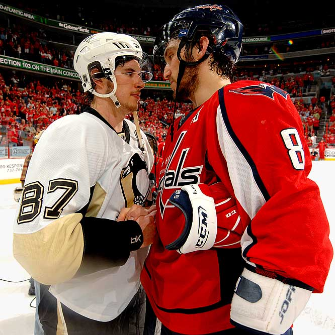 Hockey Photos - Alex Ovechkin - Alex Ovechkin and Sidney Crosby.