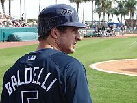 Baseball Photos - Rocco Baldelli - Baldelli at spring training in 2008