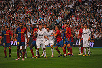 Soccer Photos - Fabio Cannavaro - Cannavaro (first left) with Real Madrid against Barcelona.