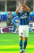 Soccer Photos - Hernán Crespo - Crespo in an Inter shirt.