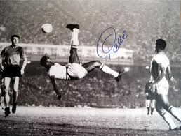 Soccer Photos - Pele Bicycle Kick