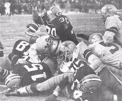 Football Photos - Ice Bowl - Bart Starr's winning TD in the Ice Bowl.