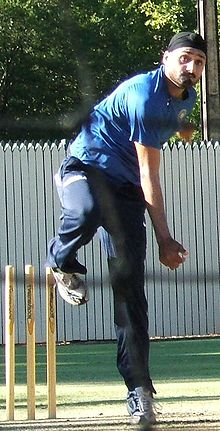 Sports Photos - Harbhajan Singh - Harbhajan bowling in the nets.