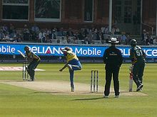 Sports Photos - Lasith Malinga - Malinga bowling against Pakistan in the final of the 2009 ICC World Twenty20 at Lord's.