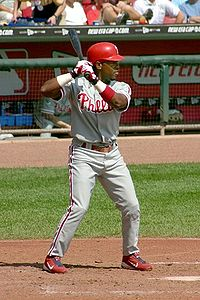 Baseball Photos - Jimmy Rollins - Jimmy Rollins at bat