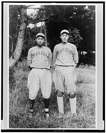Baseball Photos - Baseball - Two players on the baseball team of Tokyo