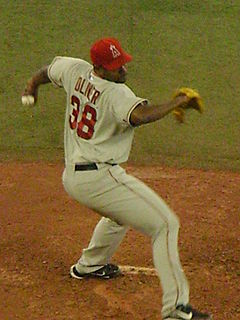 Baseball Photos - Darren Oliver - Oliver pitching for the Angels in 2008.