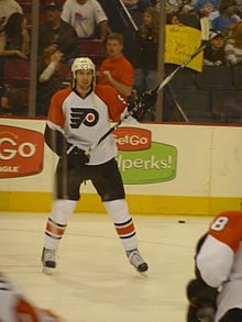 Hockey Photos - Braydon Coburn - Braydon warming up before a game against the Pittsburgh Penguins