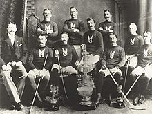 Hockey Photos - Stanley Cup - The first Stanley Cup Champions: The Montreal Hockey Club (affiliated with the Montreal Amateur Athletic Association)