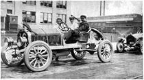 Motorsports Photos - Louis Chevrolet - Louis Chevrolet in a Buick he designed
