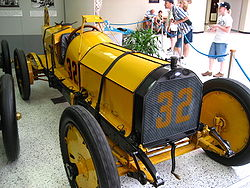 "Motorsports Photos - Ray Harroun - Harroun's original Marmon ""Wasp"" on display at the Indianapolis Motor Speedway Hall of Fame Museum."