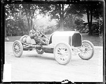Motorsports Photos - Louis Chevrolet - Louis Chevrolet in a Buick racer in Crown Point