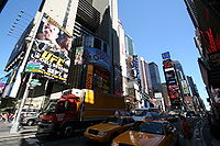 Sports Photos - Ufc - New York City Times Square ad for <i>UFC 88: Breakthrough</i> featuring Chuck Liddell vs. &quot;Sugar&quot; Rashad Evans