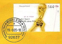 Soccer Photos - Fifa World Cup - The FIFA World Cup Trophy on a German stamp