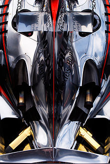 Motorsports Photos - Formula One - A topdown view of the rear of a 2006 McLaren MP4-21