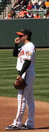 Baseball Photos - Brian Roberts - At home in April 2009 against the Rays