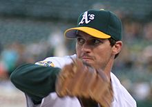Baseball Photos - Barry Zito - Zito pitching for the A's.