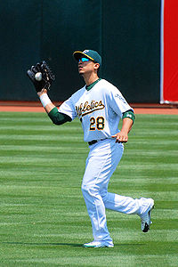 Baseball Photos - Carlos Gonzalez - González playing for the Athletics in 2008