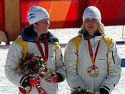 Olympics Photos - Anna Olsson (Skier) - Center