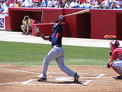 Baseball Photos - Delmon Young - Young swinging at a pitch during spring training