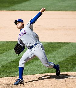 Baseball Photos - Bruce Chen - Chen pitching for the Texas Rangers in 2007
