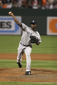 Baseball Photos - Latroy Hawkins - Hawkins pitching for the New York Yankees in 2008.