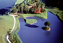 Golf Photos - Tpc At Sawgrass - TPC Sawgrass' infamous signature hole