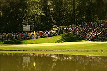 Golf Photos - The Masters Tournament - The 9th hole on the par 3 course