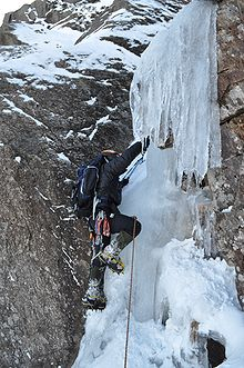 Sports Photos - Extreme Sports - Ice Climbing is a more extreme type of climbing.
