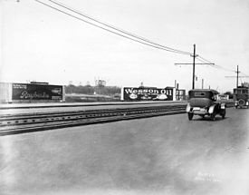 Motorsports Photos - Carl Fisher - Lincoln Highway scene in New Jersey <i>photo U.S. Library of Congress</i>